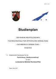Studienplan - Fachhochschule für öffentliche Verwaltung
