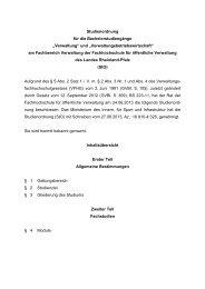 """Studienordnung für die Bachelorstudiengänge """"Verwaltung"""" und ..."""