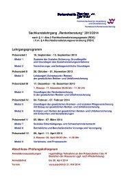 Lehrgangsprogramm - FHVD - Fachhochschule für Verwaltung und ...