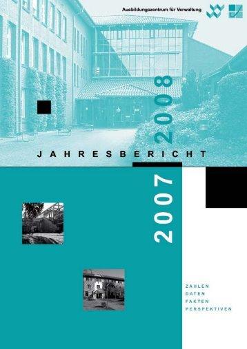 JAHRESBERICHT 2007 | 2008 - FHVD - Fachhochschule für ...