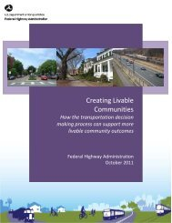 FHWA Livability Booklet 8-23-11 - About - U.S. Department of ...