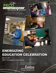 Program from the 2012 PECO Energizing Education Ceremony