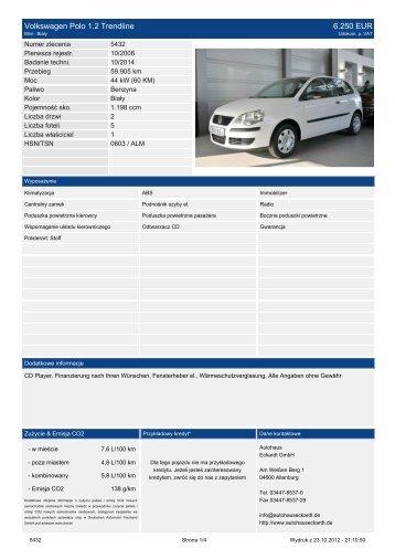 Volkswagen Polo 1.2 United 9.430 EUR - Autohaus Eckardt Gmbh