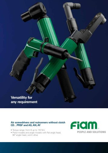 Versatility for any requirement - Fiam