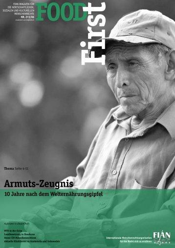 FOODFirst 2006- 2+3: Armuts-Zeugnis – 10 Jahre ... - FIAN Österreich