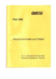 Hauptmerkmale und Daten des Fiat 500 - Fiat 500 Klub Danmark