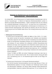 Diplomstudiengang - FIBA - Universität Bayreuth