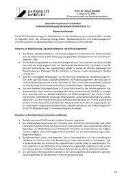 Spezialisierung Finanzen und Banken - FIBA