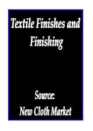 Textile Finishes and Finishing - Fibre2fashion