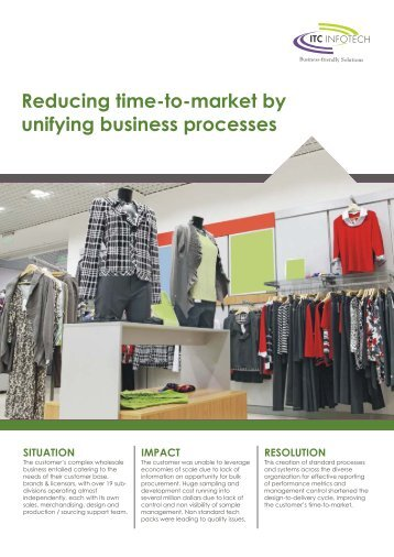 Reducing time-to-market by unifying business ... - Fibre2fashion
