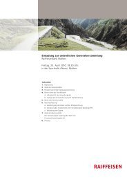 Einladung zur ordentlichen Generalversammlung Raiffeisenbank ...