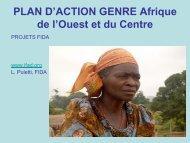 Évaluation du Plan d'Action Genre - FIDAfrique