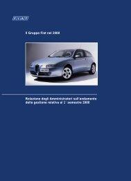 Il Gruppo Fiat nel 2000 Relazione degli Amministratori sull - Fiat SpA