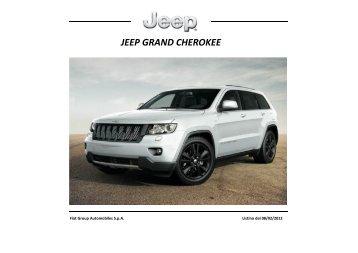 Aggiornamento Listino Jeep Grand Cherokee MY13 ... - Cesaro