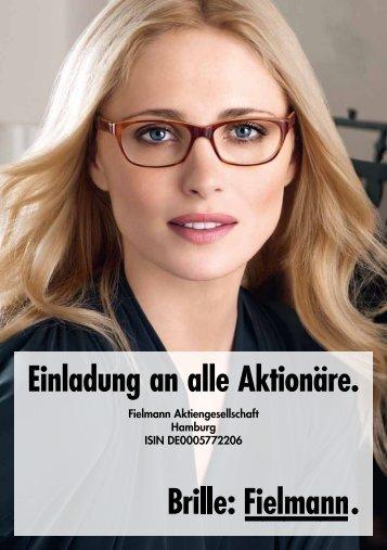 Einladung zur Hauptversammlung (PDF) - Fielmann