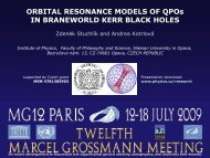 ORBITAL RESONANCE MODELS OF QPOs IN ... - Icra.it
