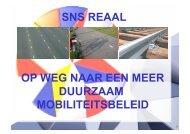 op weg naar een meer duurzaam mobiliteitsbeleid sns ... - Fietsberaad