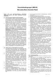 Garantiebedingungen (MB-05) Mercedes-Benz Garantie-Paket