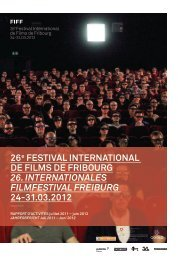 26e FESTIVAL INTERNATIONAL DE FILMS DE FRIBOURG 26 ...
