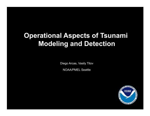 Operational Aspects of Tsunami Modeling and Detection