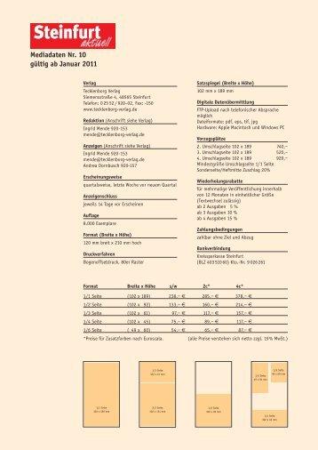 Mediadaten Nr. 3 - Tecklenborg Verlag