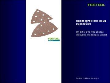 Cristal šlifavimo popierius - FESTOOL