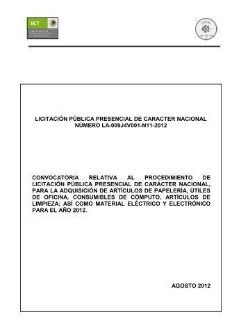 licitación pública presencial de caracter nacional número la ... - Fidena