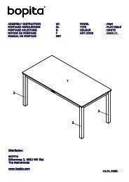 Notice de montage de la petite table Mix and Match Bopita