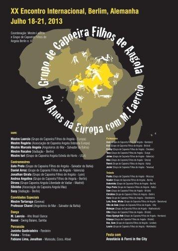 download Flyer - Grupo Capoeira Filhos de Angola, Berlin