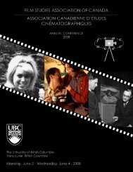 Cover Images (left to right) - Film Program - University of British ...