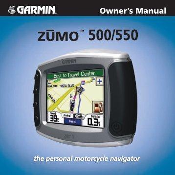 zumo 500/550 Owner's Manual - White Rose Motorcycle Tours