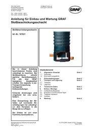 Anleitung für Einbau und Wartung GRAF Stoßbeschickungsschacht