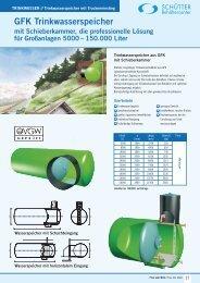 GFK Trinkwasserspeicher