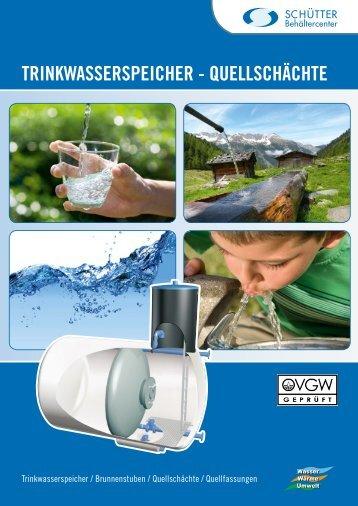 Trinkwasser - Schütter Behältercenter