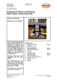 Anleitung für Einbau und Wartung GRAF Sicker- Filterschacht 400