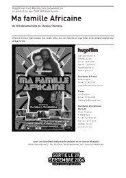 Ma famille Presse layout - Filme für eine Welt