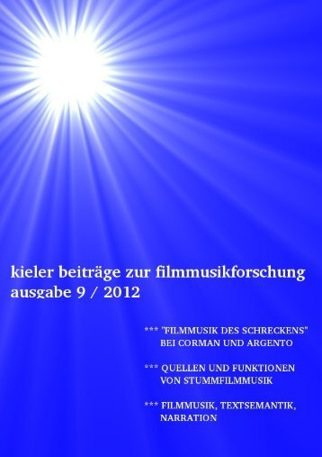 Download Kieler Beiträge zur Filmmusikforschung 9, März 2013