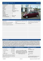 Volkswagen Polo Trendline 1 2 l 7.460 EUR