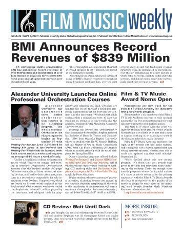 September 5, 2007 - Film Music Magazine