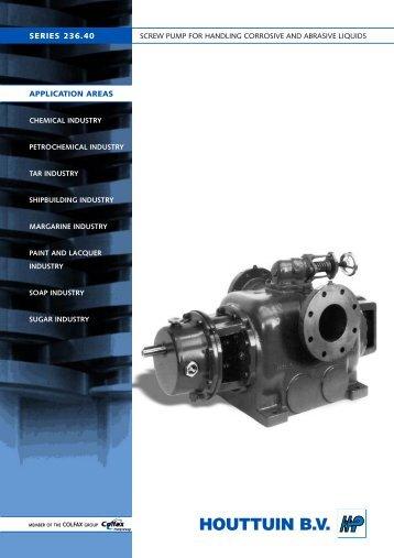 screw pump for handling corrosive and abrasive liquids - Filter