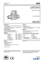 Swing check valves p approx. 600 bar DN 50/50-500/450 ... - Filter