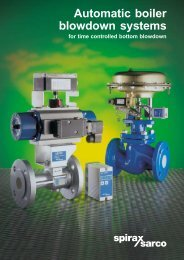Automatic boiler blowdown systems - Filter
