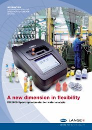A new dimension in flexibility DR 2800 Spectrophotometer for ... - Filter