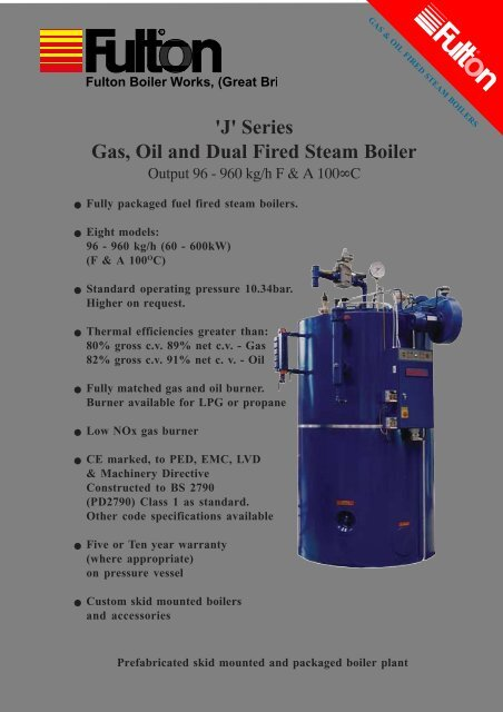 J' Series Gas, Oil and Dual Fired Steam Boiler - Filter