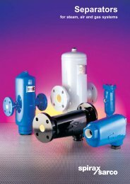 Separators for Steam, Air and Gas Systems - Spirax Sarco