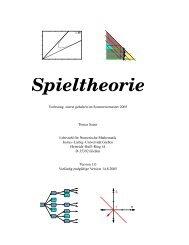 Spieltheorie - Fakultät für Informatik und Mathematik