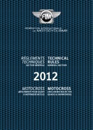2012 FIM Technical Rules Motocross
