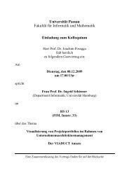 Einladung zum Kolloquium - Fakultät für Informatik und Mathematik ...