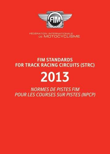 2013 Normes de Pistes FIM pour les Courses sur Pistes