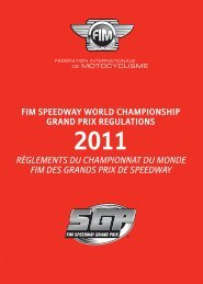 fim speedway world championship grand prix regulations ...